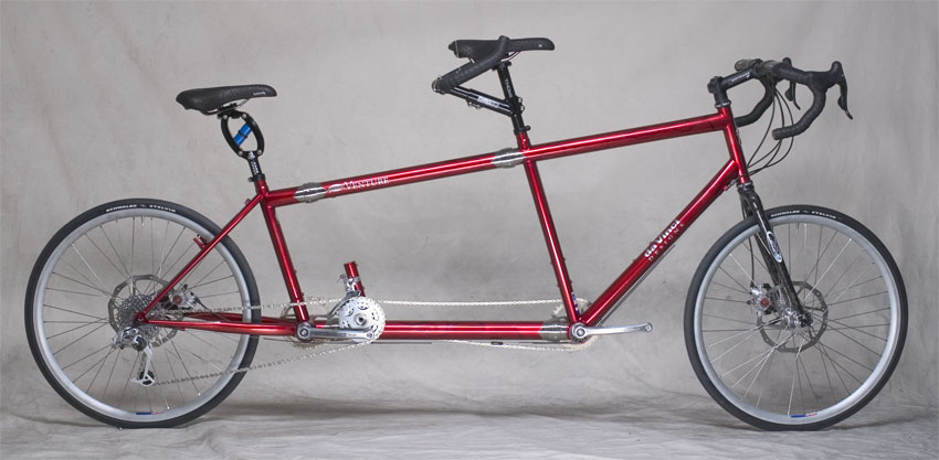 Tandem Bicycle with S&S Couplers