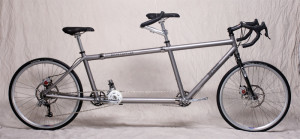 Titanium S&S Coupled Tandem Bicycle