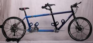 Titanium S&S Coupled mountain hybrid tandem bike w/ Rolf Prima wheels