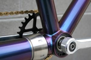 Titanium Symphony da Vinci Designs independent coasting tandem bicycle w/ Shimano 3X11 Die electronic shifting