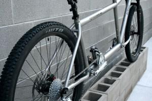 Titanium front suspension 29'er mountain tandem da Vinci Designs Symbiosis XC