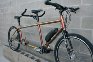 S&S Coupled Electric Assist Joint Adventure mountain hybrid tandem Bicycle w/ gravel tires
