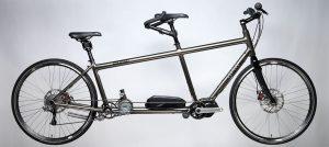da Vinci silver Tailwind Mountain Hybrid tandem bike
