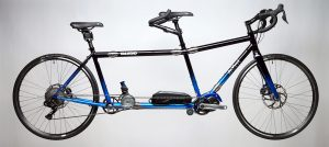 S&S Coupled Black and Stratto Blue da Vinci Tailwind Electric Assist Road Bike tandem