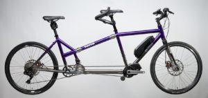 Electric Assist Shimano Step Through Frame Tailwind Tandem Di2 Deep Purple and Titanium Silver Fade